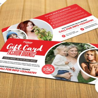 Fashion Store Gift Card Template