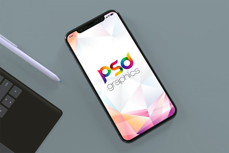 Flat Lay iPhone 11 Pro Max Mockup Template