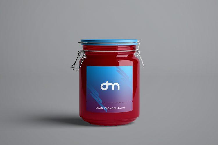 Glass Jar Mockup Template