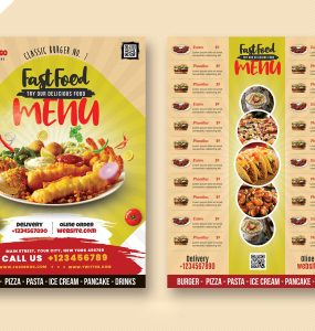 Restaurants Food Menu Card Design Template