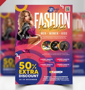 Year-End Fashion Sale Flyer Template