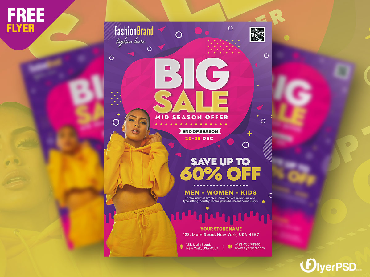 Promo Flyer Template Free from downloadpsd.cc