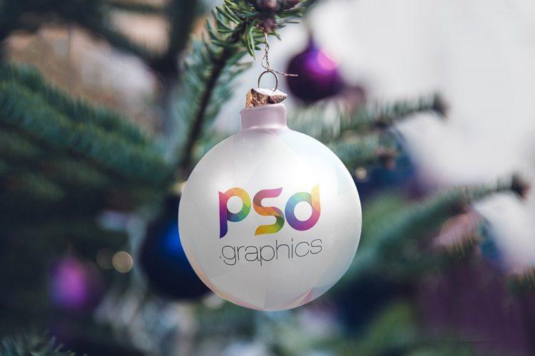 Christmas Tree Ball Mockup Template