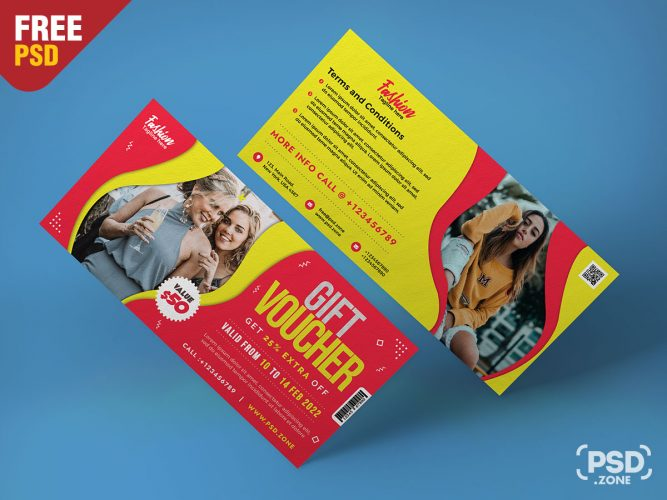 Fashion Store Gift Voucher Template