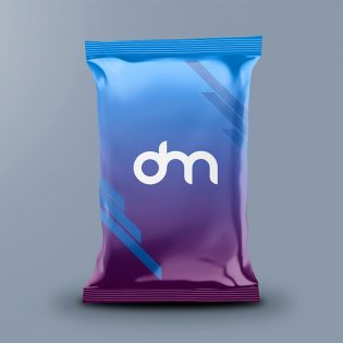 Free Chips Bag Packaging Mockup