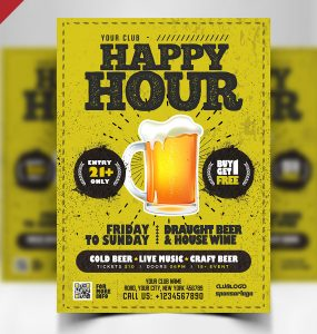 Happy Hour Flyer Design Template