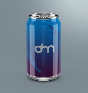 Soda Can Mockup Branding Template