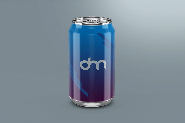 Soda Can Mockup Branding Template