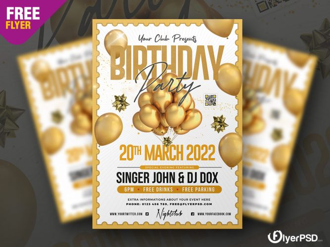 Birthday Party Flyer Design Template