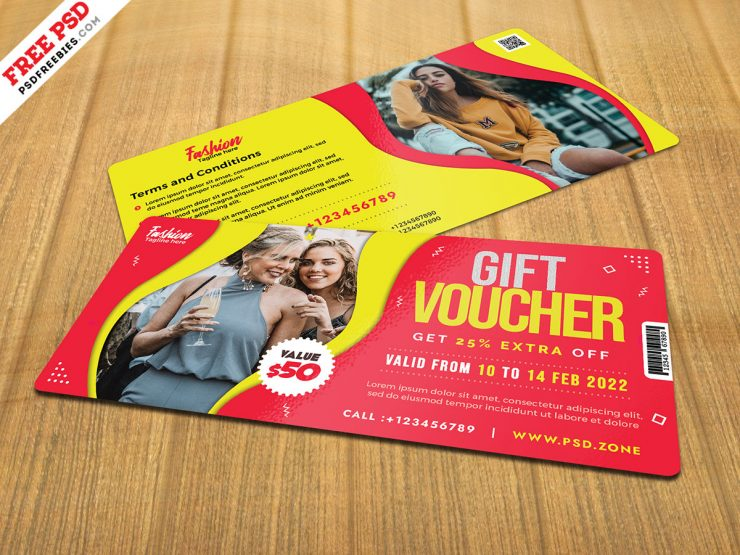 Fashion Store Gift Voucher Design Template