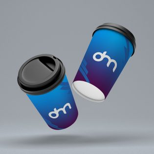 Floating Coffee Paper Cup Mockup Template