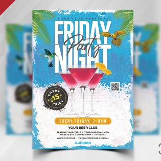 Friday Night Party Flyer Template Design