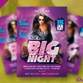 Party Night Flyer Template Design