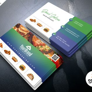 Restaurant Business Card Template Design