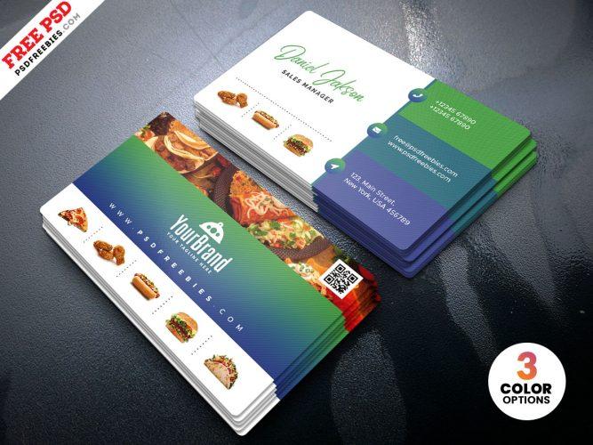 Restaurant Business Card Template Design
