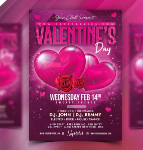 Valentine's Day Flyer Design Template