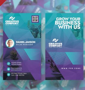 Vertical Designer Business Card Template