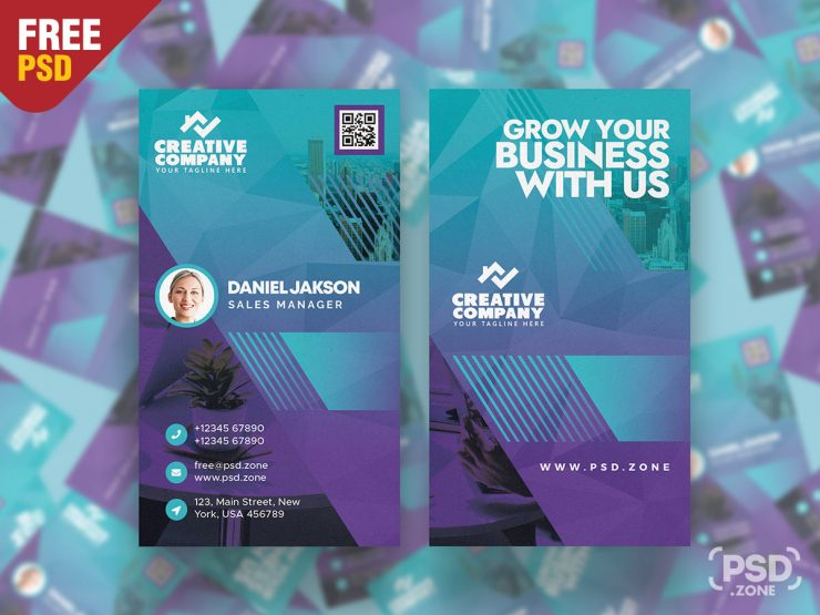Vertical Designer Business Card Template