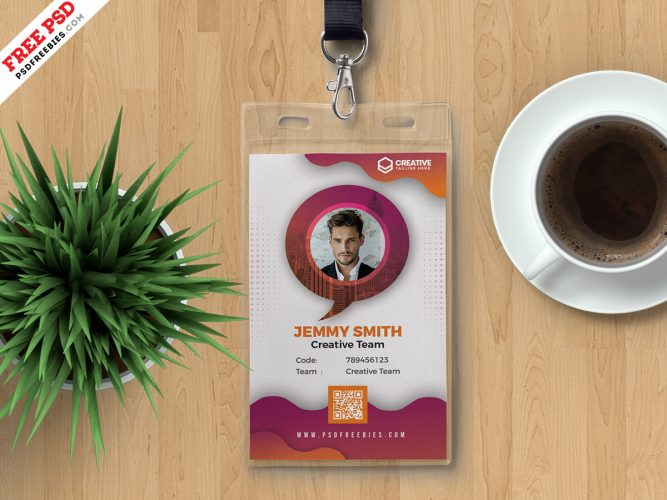 Corporate Office Photo Identity Card Design Template
