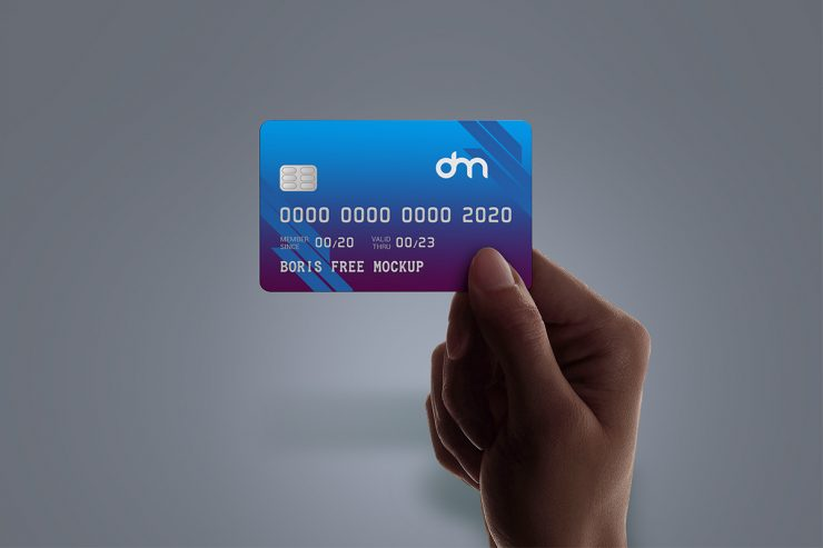 Holding Credit Card in Hand Mockup