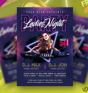 Ladies Night Club Party Flyer Template