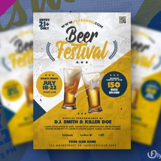 Beer Festival Flyer Template Design