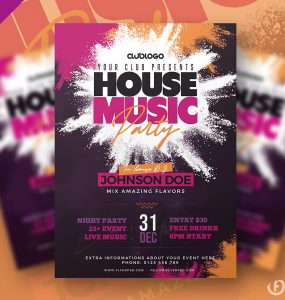 House Party Flyer Template PSD