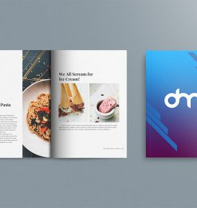 Open Magazine and Book Cover Mockup