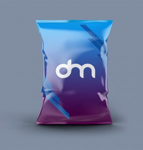 Chips Bag Packaging Mockup