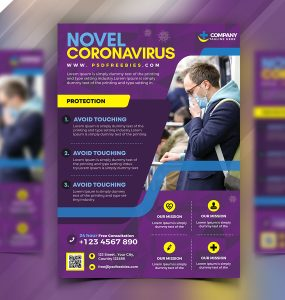 CoronaVirus Awareness Flyer Template Design