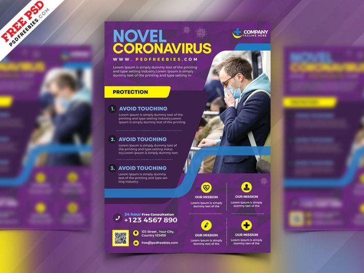 CoronaVirus Awareness Flyer Template Design