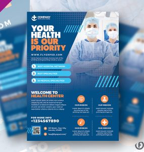 Health Care and Hospital Flyer Template PSD