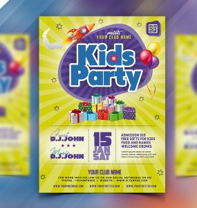 Kids Party Flyer Template Design