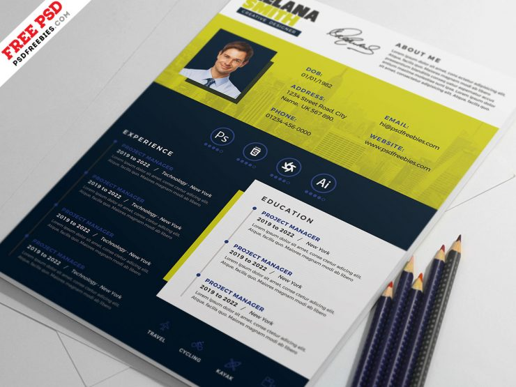 Modern Resume CV Design Template