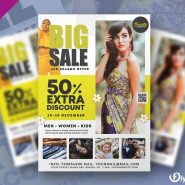 Big Fashion Sale Flyer Template