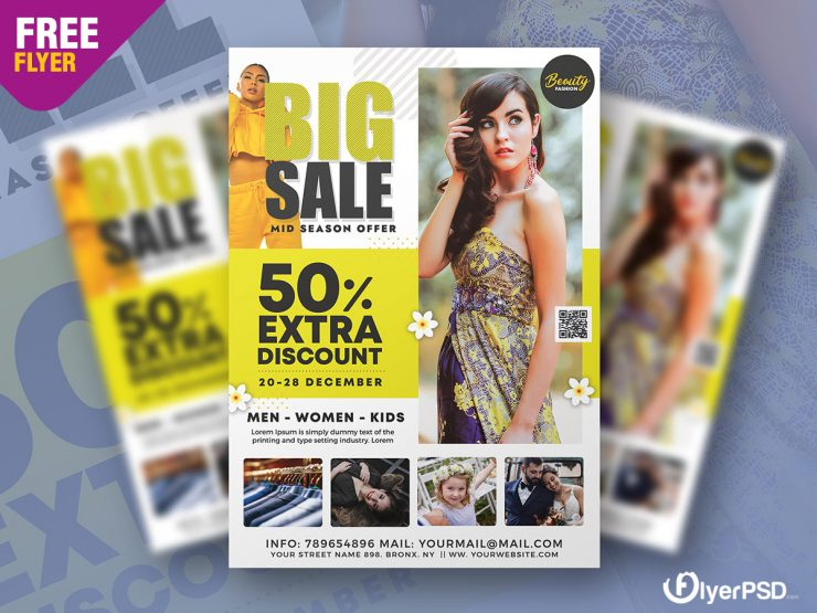 Big Fashion Sale Flyer Template