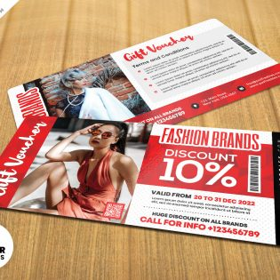 Free Gift Voucher Template Design