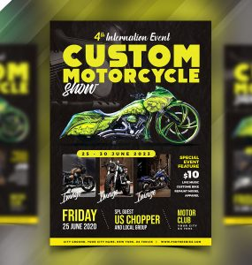 Motorcycle Event Flyer Design Template