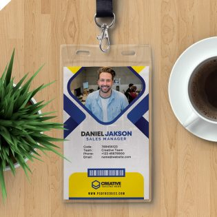 Office Employee ID Card Design Template