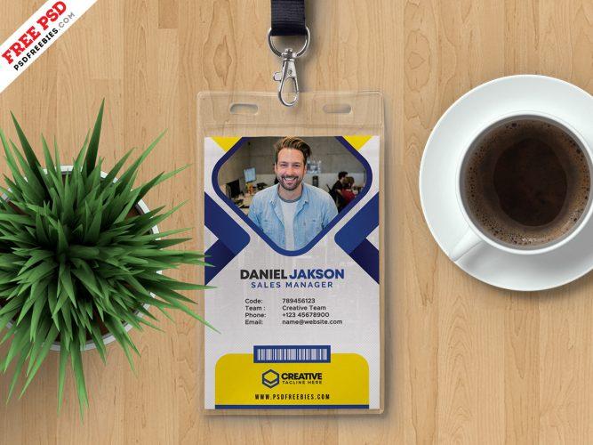 Office Employee ID Card Design Template