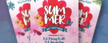 Summer Music Event Flyer Template Design