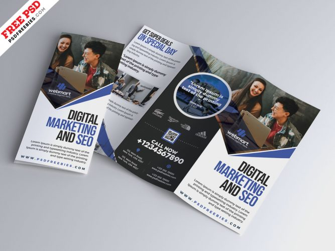Tri-Fold Corporate Brochure Design Template