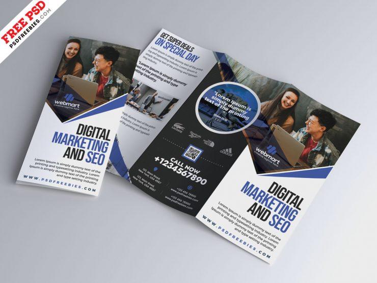 Tri-Fold Corporate Brochure Design Template