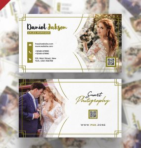 Wedding Photographer Business Card PSD Template
