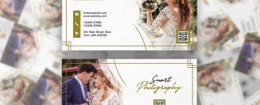 Wedding Photographer Business Card PSD Template