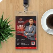 Employee Photo ID Card Design Template