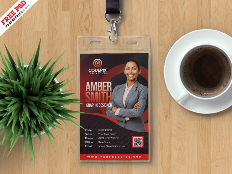 Employee Photo ID Card Design Template - Download PSD