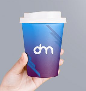 Holding Paper Coffee Cup Packaging Mockup