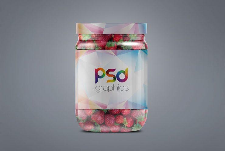 Jam Glass Jar Label Mockup Template