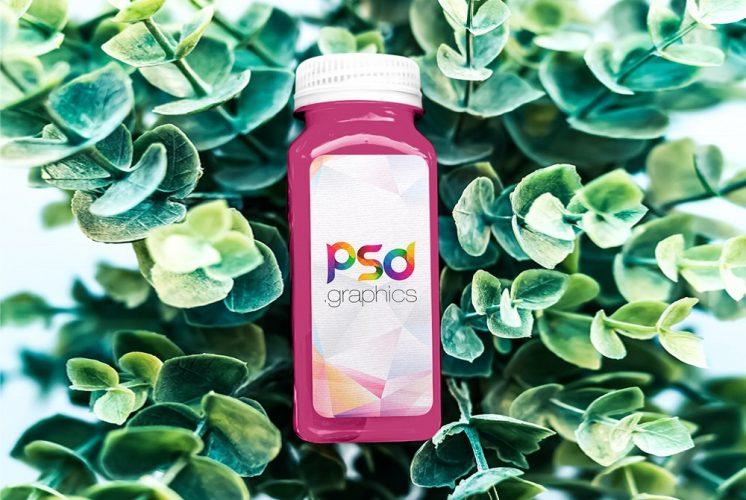 Juice Bottle Branding Mockup Template